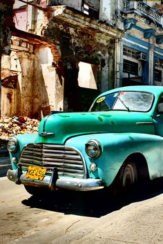 Vintage Taxis throughout Cuba. Make sure you have health insurance though - they won't let you in the country without it! ---->  http://www.mappingmegan.com/need-health-insurance-to-visit-these-countries/
