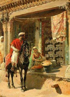 Street Vendor, Ahmedabad, 1885 Painting by Edwin Lord Weeks, American, 1849 - 1903 Islamic Paintings, Indian Art Paintings, Indian Artwork, Portrait Paintings, Oil Paintings, Nocturne, The Snake, Arabian Art, Most Famous Paintings