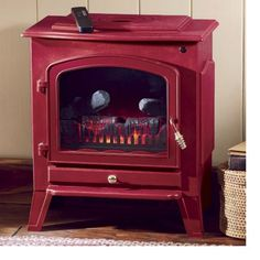 Green or Red Electric Fireplace from Through the Country Door®