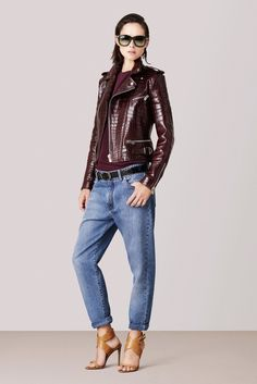 Such a nice crocodile leather moto for Bally spring 2015