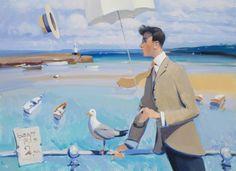 British Artist Alan KINGSBURY-Visiting St Ives
