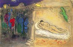 Marc Chagall - The Wedding Night