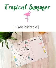Free Summer Calendar Printable
