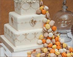 #macaroon #wedding #cake