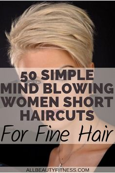 If you have fine short hair, here's 50 haircut ideas for you that will blow your mind. #shorthaircuts #shorthair #finehair