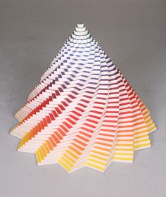 Cool Construction Paper Kaleidoscope Art Jen Stark Paper - Mesmerising hand crafted paper sculptures jen stark