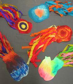 Komety - pastózní malba a krepák