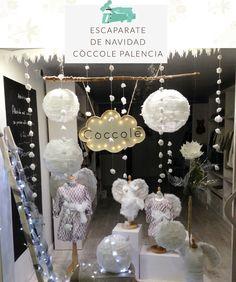 Decoracion de escaparate de Navidad Coccole Palencia