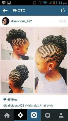 african hairstyles 2018 hairstyles 2018 black female hairstyles for running hairstyles black woman hair vikings to easy braided hairstyles hairstyles kim kardashian hairstyles diy Lil Girl Hairstyles, Natural Hairstyles For Kids, Kids Braided Hairstyles, Princess Hairstyles, African Braids Hairstyles, My Hairstyle, Natural Hair Styles, Long Hair Styles, Hairstyles Pictures