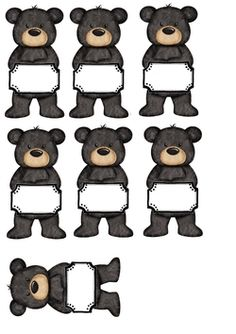 Présence des oursons Bear Theme Preschool, Preschool Themes, Classroom Labels Free, Classroom Themes, Cool Clipart, Teddy Bear Day, Bear Crafts, Bear Pictures, Cute Bears