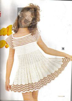 crochet beauty dress for baby girl, crochet pattern