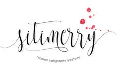 Sitimerry Script - Crafters Font For Many Projects - Little Big Crafter