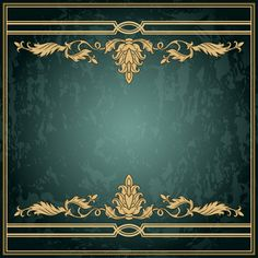 Classical decor frames retro vector set 21