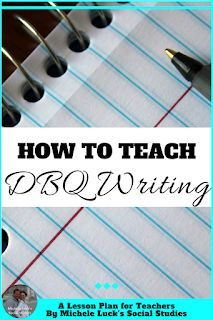 Teaching the DBQ Process can be as overwhelming for teachers as it is for… Social Studies Classroom, High School Classroom, Teaching Social Studies, Teaching History, Teaching Writing, History Classroom, Future Classroom, Teaching Strategies, Teaching Ideas
