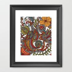 Feather+Heaven+Framed+Art+Print+by+Valentina+-+$35.00