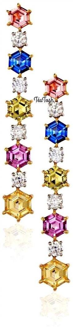 ❇Téa Tosh❇ Dazzling Sapphire and Diamond Earrings