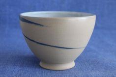 AKR.ZeitRaub - Schale mit blauer Spirale von DrehArt auf DaWanda.com