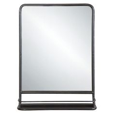 Metal Wall Mirror with Shelf