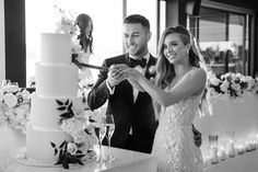 Jess and Julian at Carousel, Melbourne, Australia. Cake Photography, Wedding Photography, Albert Park, Melbourne Wedding, Wedding Cake Inspiration, Beautiful Wedding Cakes, Most Beautiful, Groom, White Dress