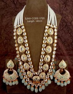 Indian Wedding Jewelry, Bridal Jewellery, Bridal Jewelry Sets, Shoulder Necklace, Bride Necklace, Lahenga, Bead Embroidery Jewelry, Gold Jewellery Design, How To Make Necklaces