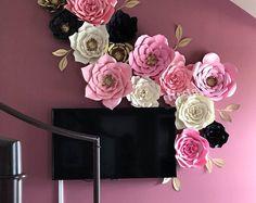 14 flores de papel de pc, Telón de fondo, buffet de dulces, decoración, personalizar sus colores!