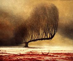 Easily my favourite piece by Zdzisław Beksiński and possibly my favourite bit of art period. I'm not sure I could explain why.