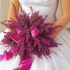 Pink Heather Bouquet. This is the one I carried.  This is the actual pic I took to the florist