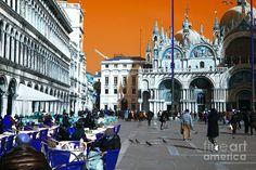 St. Marks Square Pop Art Photograph Pop Art, Photograph, Street View, Art Prints, Travel, Photography, Art Impressions, Viajes, Photographs