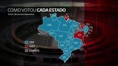 mapa impeachment por estado como votaram