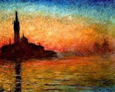 Claude Monet - View of San Giorgio Maggiore, Venice by Twilight, 1908
