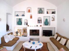 Cool fire niche - Djerba, Tunisia, menzel architecture, holiday villa - http://daralrisha.viewbook.com/album/thevilla