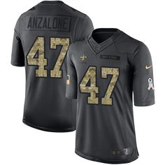 Youth Nike New Orleans Saints #47 Alex Anzalone Limited Black 2016 Salute to Service NFL Jersey