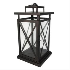 12.5 Bronze Metal Lantern X Design | Shopko.com