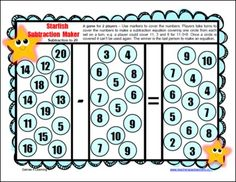 12 Printable Subtraction Board Games from Games 4 Learning  These fun, math board games are for 2 players or 2 - 4 players. They are a cute and colorful way to practice subtraction facts. The games are designed to develop mastery of basic subtraction facts. $