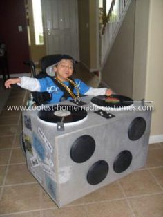 DJ Halloween wheelchair costume