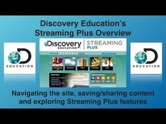 How to use Discovery Education Streaming Plus tutorial https://youtu.be/pzh3S8Q7v3I