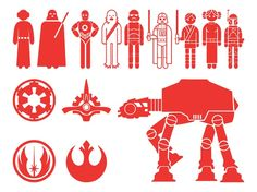 Star Wars Characters Silhouettes - think the AT-AT would be a good addition to the geeky tattoo scene