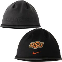 Nike Oklahoma State Cowboys Black Training Reversible Performance Beanie