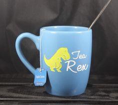 A personal favorite from my Etsy shop https://www.etsy.com/listing/500072965/t-rex-tea-mug-tea-rex-dinosaur-mug