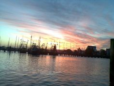 Sunset from fishing boat looking back over Moloolaba Queensland taken by Sharon McLean