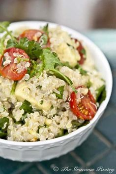 vegetarian quinoa and avocado and cilantro salad with carnivorous possibilities www.frontdoorfarms.com