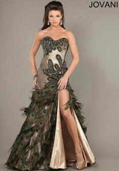 Peacock Prom Dress