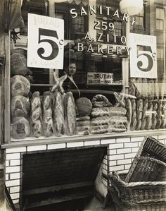 Berenice Abbott, Zito's Bakery, 259 Bleecker Street , 1937, from Changing New York, 1935–39, gelatin silver print. The Jewish Museum, New York