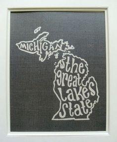 Michigan Art Print | Rock Paper Scissors | Tecumseh & Ann Arbor, MI