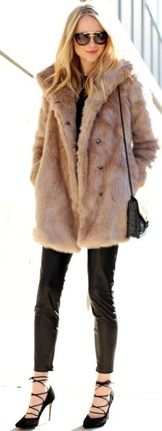 FUAX FUR STATEMENT COAT I Fashion Jackson #fuax