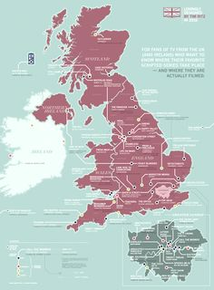 This Map Shows You The Locations Of Every Great British TV Series (Map: Tim Ritz)