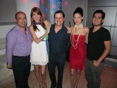 Con Bob Varela, Sacha Garcia (Model Latina Las Vegas) y Marelene Cruz (Model Latina South Beach) en Atmosfera en la presentacion del Episodio 01 de Model Latina South Beath.