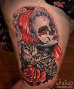 Dia de Los Muertos tattoo. Day of the dead tattoo