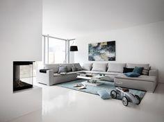 """Canapé d'angle """"Mezzo"""" en tissu ou cuir avec méridienne, à partir de 5 099 euros, BoConcept."""