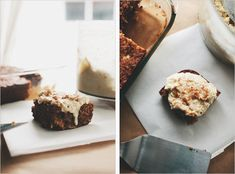 banana snacking cake with cashew coconut cream ++ sprouted kitchen #glutenfree